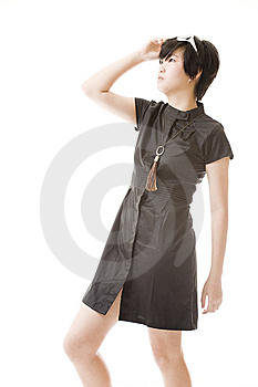 Female Asian Model In Fashion Clothes Royalty Free Stock Photo - Image: 8716105