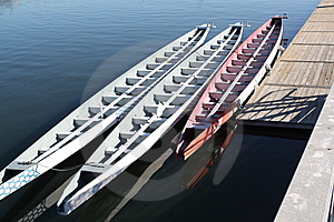 Canoes And Dock Stock Image - Image: 8716731