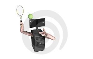 Computer Tennis Game Royalty Free Stock Images - Image: 8718139