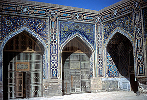 Mosque Courtyard Registan Square Royalty Free Stock Photo - Image: 8718415