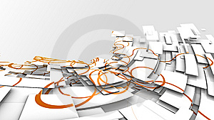 Abstract Background Image With Oramge Swirly Paths Stock Photography - Image: 8719872
