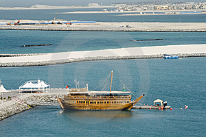 Dubai City - Dhow And Construction Stock Photography - Image: 8720322