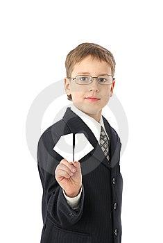 Boy Starts Paper Plane Royalty Free Stock Photos - Image: 8723238