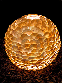 Lamp Shade From Sea Bowls. Royalty Free Stock Images - Image: 8724869