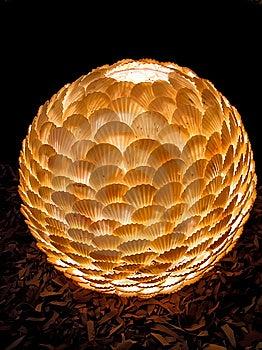 Lampenschirm Von Den Seeschüsseln. Lizenzfreie Stockbilder - Bild: 8724869