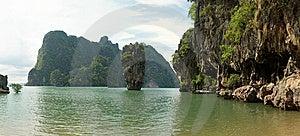 James Bond (Ko Tapu) Island Lagoon Panorama Royalty Free Stock Photo - Image: 8725685