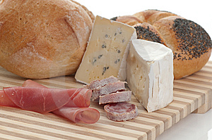Cheese And Bread Stock Images - Image: 8727034