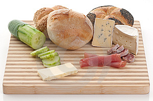 Bread, Blue Cheese And Ham Royalty Free Stock Image - Image: 8727096
