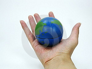 World In The Palm Of The Hand Royalty Free Stock Photo - Image: 8728685