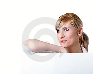 Portrait Of The Young Beautiful Businesswoman Royalty Free Stock Image - Image: 8728906