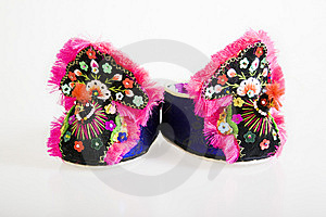 Handmade Cloth Shoes Stock Photo - Image: 8731450