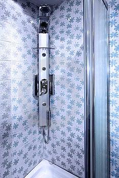 Blue Shower Cabin Stock Images - Image: 8731464