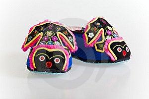Handmade Cloth Shoes Royalty Free Stock Image - Image: 8731466