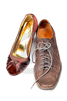 Ladies And Gents Footwear Royalty Free Stock Photo - Image: 8732035