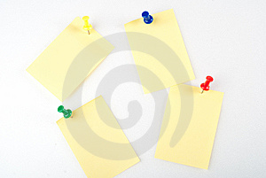 Post-it Note With Pin Stock Photos - Image: 8732813