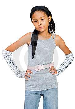 Portrait Of A Girl Standing Royalty Free Stock Image - Image: 8732856