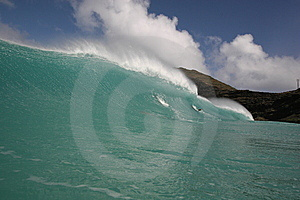 Wave And Scenic Background Royalty Free Stock Image - Image: 8733116