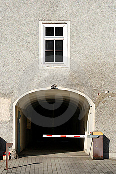 Security Barrier Infront Of Gate Stock Photography - Image: 8733452