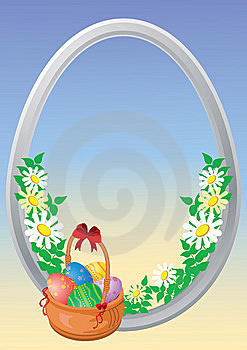 Easter Eggs Are In A Basket Royalty Free Stock Photography - Image: 8734907