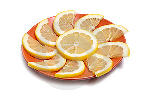 Lemon In Plate Royalty Free Stock Photo - Image: 8735415
