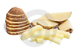 Cut Potato Stock Image - Image: 8736001