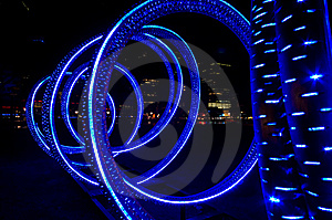Blue Light-tube Royalty Free Stock Photos - Image: 8739088