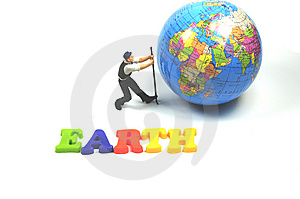 Saving The Earth Royalty Free Stock Photos - Image: 8739378