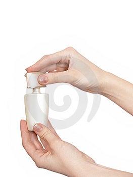 Hand With Perfumery Stock Image - Image: 8739511