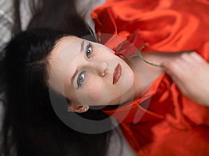 Beautiful Girl In Red Stock Photos - Image: 8740403
