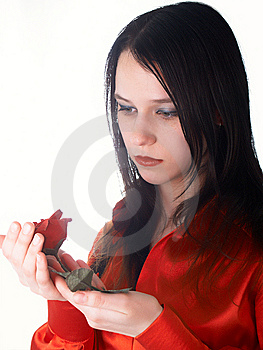Beautiful Girl In Red Royalty Free Stock Image - Image: 8740866