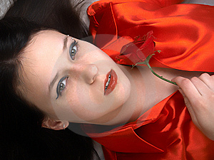 Beautiful Girl In Red Royalty Free Stock Photo - Image: 8740915
