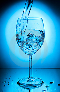 Glass With Water Stock Photography - Image: 8741382