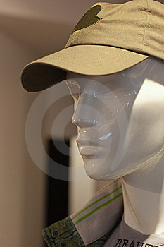 Man Mannequin With Cap In Shop Stock Images - Image: 8744444