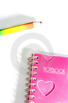 Back To School Notebook And Pencil Stock Photography - Image: 8745992