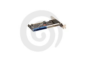 IDE Raid Controller PCI Card Royalty Free Stock Photo - Image: 8747505