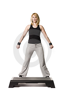 Girl Working Out Stock Photo - Image: 8749680