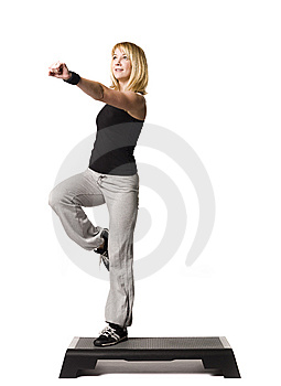 Girl Working Out Stock Photo - Image: 8749690