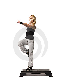Girl Working Out Royalty Free Stock Image - Image: 8749696