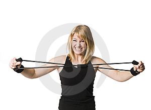 Girl Working Out Royalty Free Stock Images - Image: 8749839