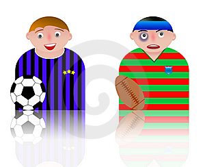People Icons Football And Rugby Stock Photography - Image: 8750142
