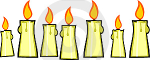 Seven Burning Candles Stock Photos - Image: 8750513