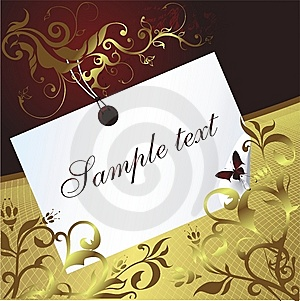 Space For The Text With An Ornament Stock Images - Image: 8750854