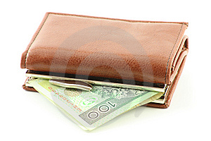 Polish Banknote In Wallet Royalty Free Stock Images - Image: 8751639