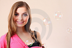 Woman With Bubbles Stock Photography - Image: 8751982