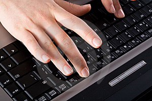 Working On The Laptop Royalty Free Stock Photos - Image: 8752658
