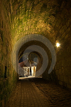 Nighttime Archway To Kuressaare Castle Yard Royalty Free Stock Photo - Image: 8754255