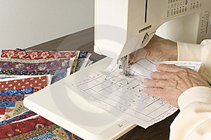 Sewing Blocks Of Material Royalty Free Stock Photography - Image: 8755277
