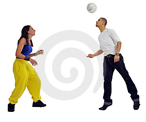 Woman And Man Playing Royalty Free Stock Images - Image: 8756159