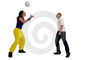 Woman And Man Playing Stock Images - Image: 8756164