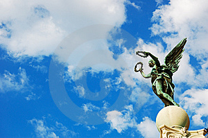 Statue On The Top Of A Pillar Stock Photo - Image: 8756320
